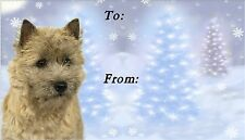 Cairn Terrier Christmas Labels by Starprint - No 1