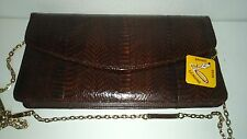 Women Lady Genuine Snake Skin Handbag Party Evening Clutch Bag Wallet Purse