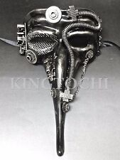 New ! Silver Steampunk Steam-Powered Machinery Long Nose Custom Masquerade Mask