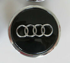 1X ALLOY WHEEL CENTER CENTRE CAP FOR AUDI A3 A4 A5 A6 TT RS4 Q5 Q7 BLACK 68mm