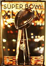 "2010 Super Bowl XLIV Lombardi Trophy New Orleans Saints 36 x 24"" Poster New"