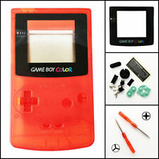 GBC Nintendo Game Boy Color Housing Shell Clear Red Screen Lens MINT NEW