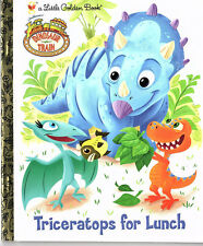 A Little Golden Book - Dinosaur Train: TRICERATOPS FOR LUNCH -{2010} LN