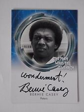 DAVID BOWIE THE MAN WHO FELL TO EARTH  Bernie Casey Autograph Card Wondament