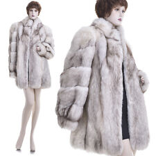 Mint! High Quality Thickest Real Fox Fur Stroller Coat/Jacket
