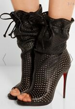 NIB Christian Louboutin Jennifer Perforated Booties Sz 37