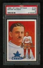 PSA 9 MOOSE WATSON 1985 Hockey Hall Of Fame Card #105