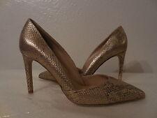 New Sz. 39/9M Diane Von Furstenberg Gold Leather Women's High Heels Pumps Shoes