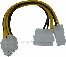 4 Pin & Molex to 8 Pin Power Adapter Cable LPS TO EPS CONVERTER ADAPTER