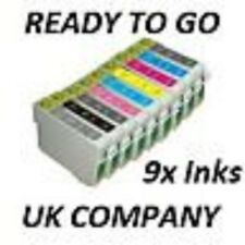 9 (full set) Compatible Ink Cartridges For Epson Stylus Photo R2880