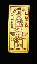 BOY SCOUT  WOODBADGE GILWELL REUNION BLUE SPRINGS  INDIANA & CANADA