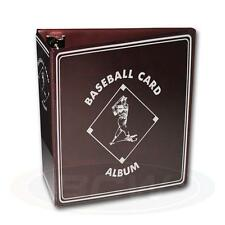 "1 case 12 BCW 3"" Burgundy Baseball Card D-Ring Album Binders Storage"