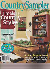 COUNTRY SAMPLER MAGAZINE JANUARY 2016.