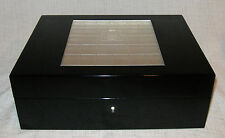 Lalique Madison Black Lacquer and Crystal Box