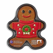 WILTON GIANT COOKIE PAN GINGERBREAD BOY UGLY CHRISTMAS SWEATER #2105-0067 RARE!!