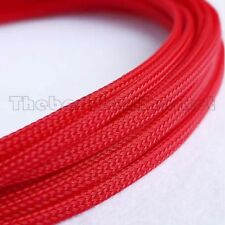 3mm High Density Expandable Braided PET Premium Cable Sleeve 3 Ft USA Red Color