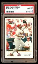 POP 15 PSA 10 ALBERT PUJOLS 2001 FLEER FOCUS RC /999  RARE PSA 10  POP 15 ANGELS