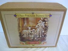 GRANDEUR NOEL PORCELAIN FIGURINES POLAR BEAR REINDEER SANTA NEW IN BOX 1999