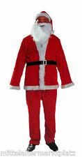 5 tlg Samt Weihnachtsmann Nikolaus Kostüm Nikolauskostüm Karneval Fastnacht