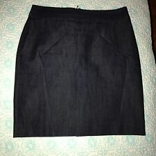 LEIFSDOTTIR Dark Blue Denim Straight Skirt NWOT Anthropologie Size 4 Trendy