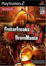 Used PS2 Guitar Freaks V & Drum Mania V   Japan Import (Free Shipping)