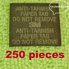 3M Anti-Tarnish Paper Tabs 1 X 1 in. Strips, New & Fresh 250 pack