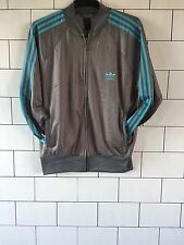 URBAN VINTAGE RETRO GREY ADIDAS RINGER SWEATSHIRT SWEATER TRACK JACKET UK XL
