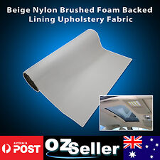 1.51M x 2M Beige Roof Lining Headlining Upholstery Fabric Foam Backing Car Auto