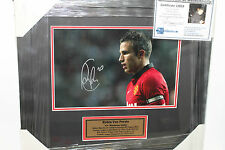 ROBIN VAN PERSIE (MAN UNITED)  SIGNED 8X10 PHOTO  FRAMED + C.O.A & PHOTO PROOF