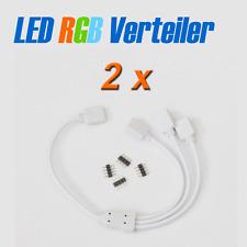 2x LED Verteiler 1 zu 3 mit 4 pin Stecker für LED RGB Leiste Strip e Verbinder