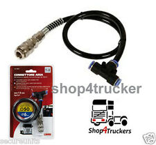 Truck lorry HGV 6mm push fit air line T shaped connector with 50cm tube 13 bar