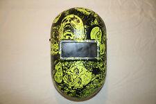 Honeywell Fibre-Metal 110PWE Pipeliner Welding Helmet  Neon Green Zombies