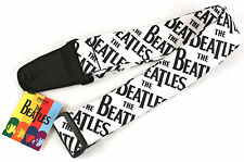 PLANET WAVES D'Addario Beatles Classic Logo Guitar Strap Vinyl Black & White NEW