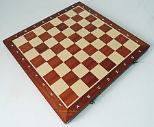 BRAND NEW MADON TOURNAMENT NR 6 FOLDING WOODEN CHESS BOARD 52CM / 20.5 INCHES