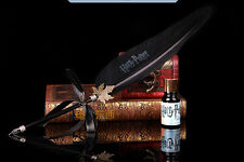 Harry Porter Quill Dip Pen+Ink Set Christmas Halloween Gift Accessory Black ZY