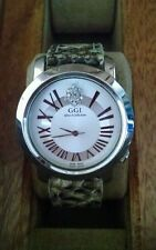 "GGI Stainless Steel ""after 5 collection"" watch with genuine python banda"