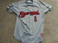 2015 Brevard County Manatees Game Used Road Jersey #1 Omar Garcia Brewers