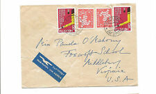 1961 Switzerland airmail cover to Middleburg VA fold small tear