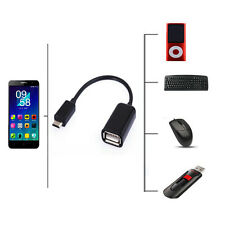 USB Host OTG Adapter Cable Cord For Motorola Droid 4 MB865 Atrix 2 HTC One M7 M8