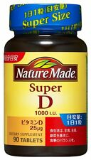 Nature Made Super Vitamin D 1000 I U 90 Tablets Sunshine Health Beauty Japan