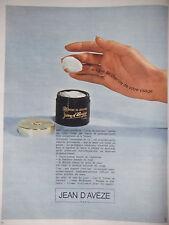 PUBLICITÉ 1967 JEAN D'AVÈZE CRÈME DE JOUVENCE - ADVERTISING