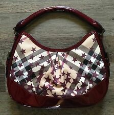 NEW! Burberry Nova Check Burgundy Stars Limited Edition Hobo [RARE] Retail $995