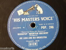 78rpm JOE LOSS ORCH mountain greenery / if you don`t love me
