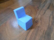 Old Vintage Superior Miniature Dollhouse Furniture Fancy Chair with Skirt Blue