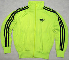 ADIDAS 3 STRIPES - hi viz fluorescent FIREBIRD long sleeve suit TRACK TOP - XS