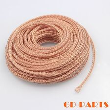 Heavy duty braided teflon OCC copper wire for HIFI audio headphone DIY Lot*5M