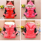 Kids Girls Baby Kids Girls Fleeced Warm Winter Jacket Coat Snowsuit age1-3 Y