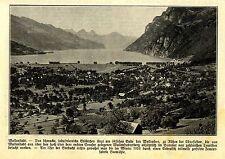 Wallenstadt am Wallersee Historische Aufnahme von 1918