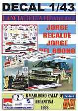 DECAL 1/43 LANCIA DELTA INTEGRALE J.RECALDE R.ARGENTINA 1988 WINNER (02)