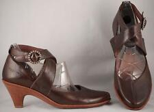 Women's Camper Brown Leather Ankle Wrap Heels US 7 EUR 37